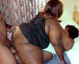 Two black BBW girlfriends dragged a..