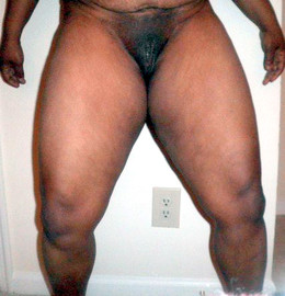 Black nudity, swallen pussy and big hips