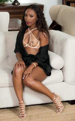 Charming black cutie Chanell Heart in..