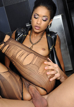 Sexy latina babe Skin Diamond in..
