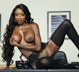 Busty black pornstar Diamond Jackson..